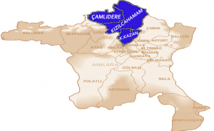 çamlıdere harita